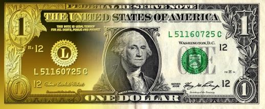 bigstock-Part-Gold-One-Dollar