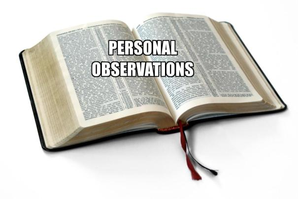 personal observations